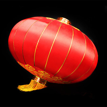 Red Cny Outdoor Chinese Silk Cloth Lanterns