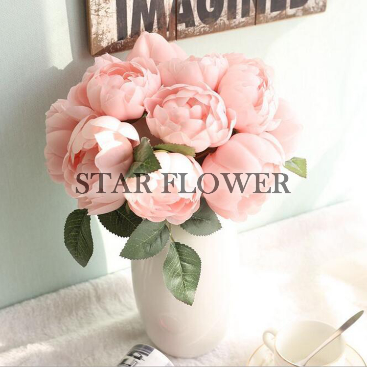 2017 Hot Sale SF2017115 High quality artificial pink <strong>flower</strong> , artificial <strong>flower</strong> real touch peony