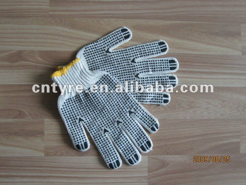 PVC Dotted Cotton Working Safety Gloves