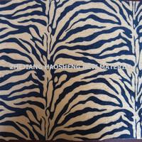 Zebra Print Crushed Panne Velvet Black & Brown 60