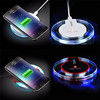 Fantasy Fashion Crystal QI Wireless Charger Blue Light Crystal Charge Pad Q7 For Iphone X 8 Plus Samsung Galaxy S6 S8 S9