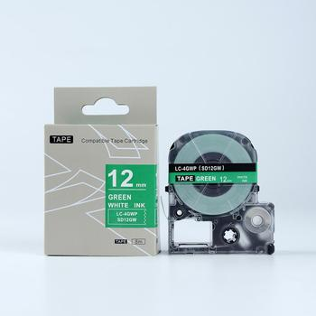 Wholesale12mm White on Green Compatible Cassette Tape LK-4GWP Label Tape for Label Printer