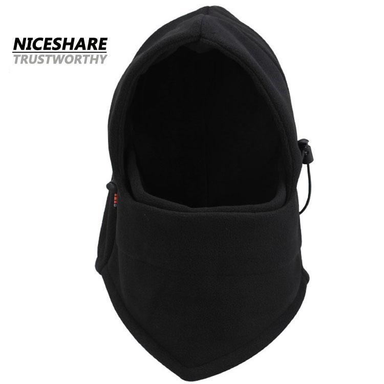 Meest populaire groothandel winter custom black fleece balaclava masker cap
