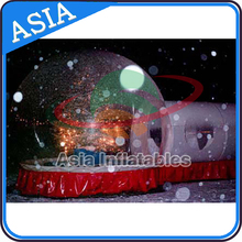 Snow globe inflatable for Christmas, advertising inflatable globe with frozen cartoon