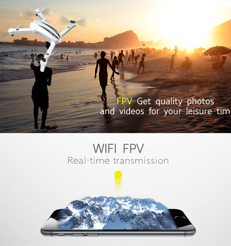 8. T13_White_Foldable_Mini_Selfie_Drone_with_720P_Wide_Angle_HD_Camera