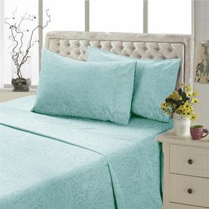Solid factory price embossed microfiber bed sheet set