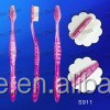 2015 popular disposable adult toothbrush with hollowed-out handle design
