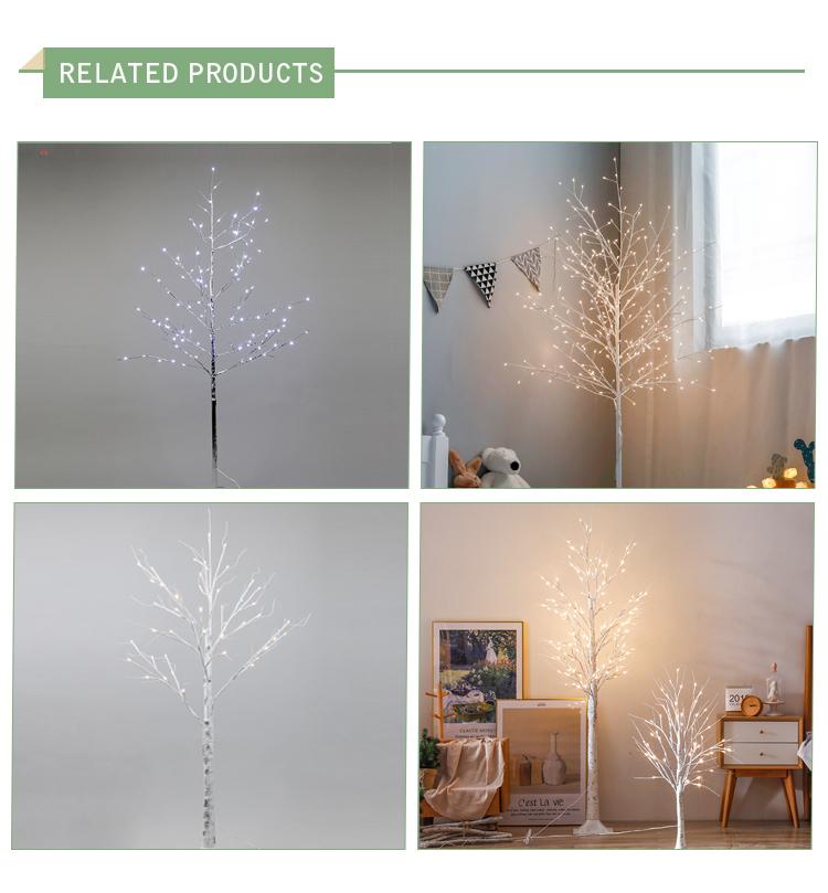 120 centímetros branco quente ao ar livre artificial galho seco filial room luz da decoração Do Natal da árvore de vidoeiro branco