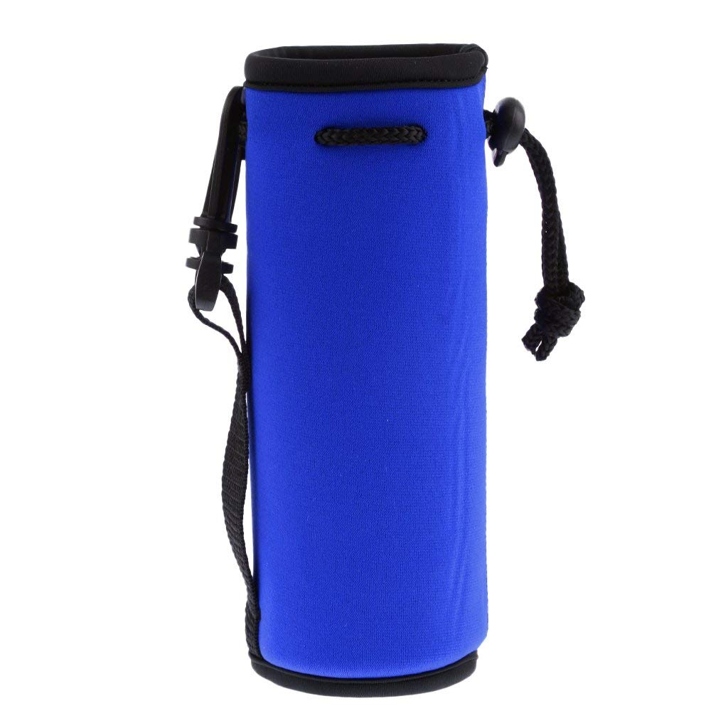 Baosity Insulated Neoprene Water Bottle Carrier Bottle Pouch Drawstring Sleeve Holder Small Tools for Hiking Travel Camping