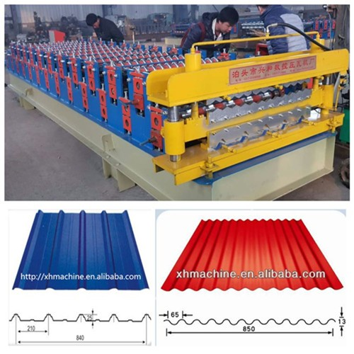 Color Steel Sheet Big And Small Roof Corrugated Double Layer Roll Forming Machine