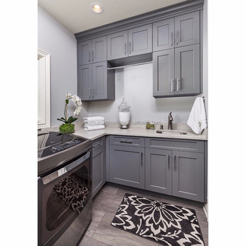 Australia grey shaker laundry room cabinet design