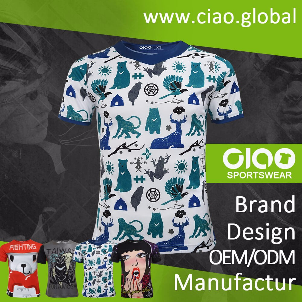 Ciao manufacturer sublimated japanese t shirt for wholesales