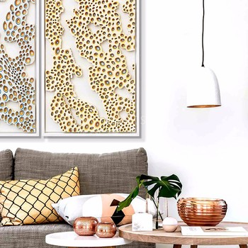 Furniture Living Room Fiber Optic Wall Art Simple Abstract Painting ...