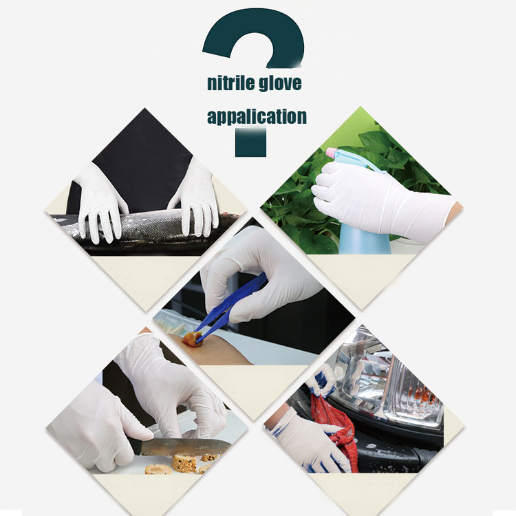 "wholesale laboratory factory dentistry safety white disposable nitrile gloves 9""gloves 12""gloves"