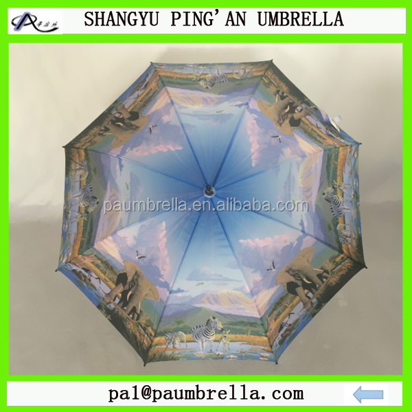 OEM wholesale animal full color printing horse umbrella