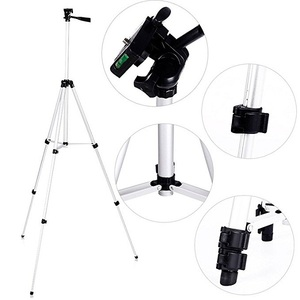 "50 Inch/130CM Portable Small Camera Tripod Stand with 1/4"" Screw Thread, Lightweight 3-Section Legs Retractable Rotatable Tripod"