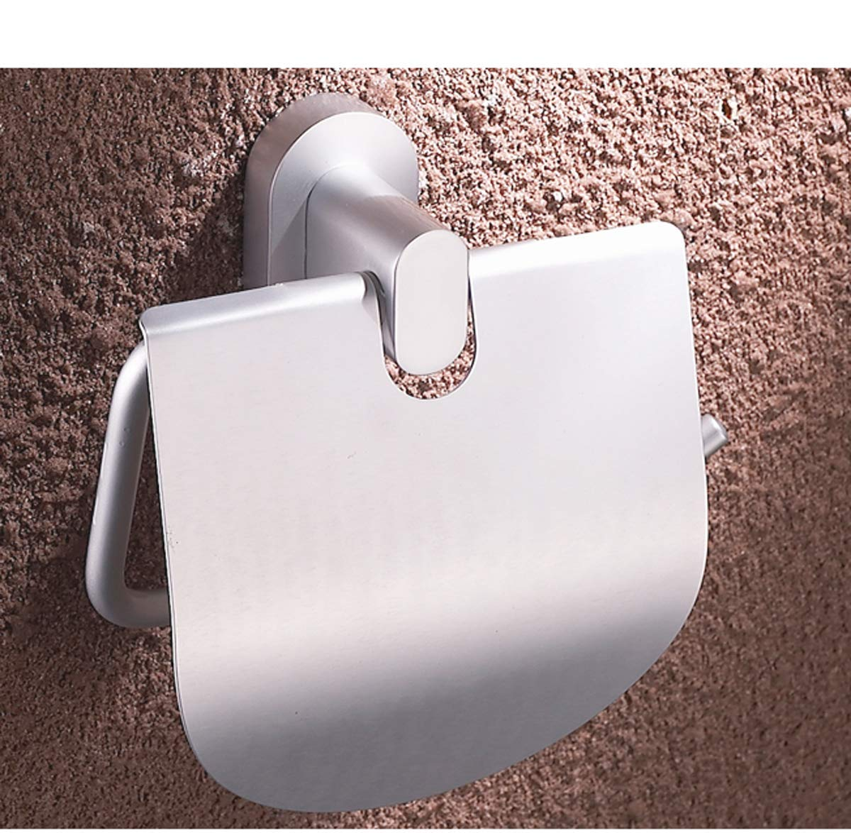 Q&F Toilet Paper Holder,Tissue Roll Hanger, Toilet Tissue Dispenser With cover- Wall Mount,Waterproof,Moisture Proof,Rust Protection,Aluminium-B