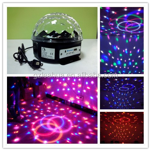 MP3 LED Crystal Ball Light for KTV/night club/home party , home party stage lighting