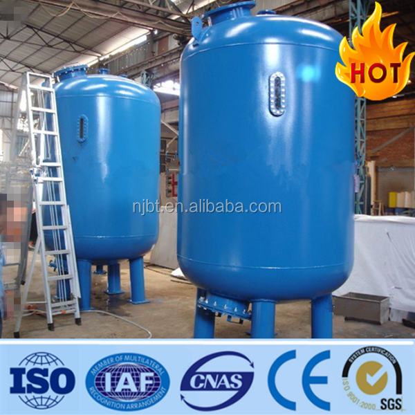 full automatic backwahing activated carbon filter vessel/tank,media filter,sand filter vessel