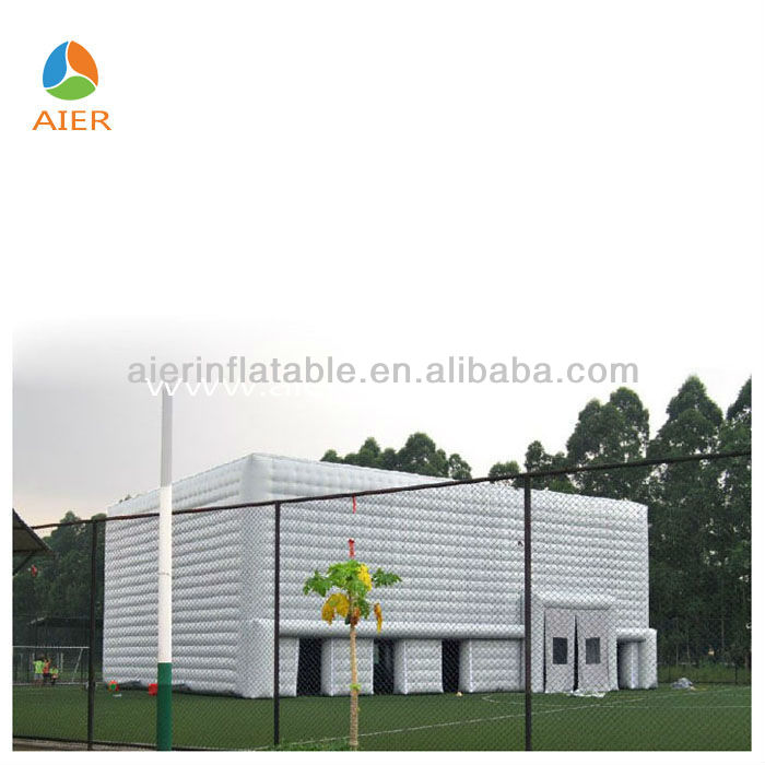 Outdoor White Inflatable cube marquee for sale,Giant Party tent.