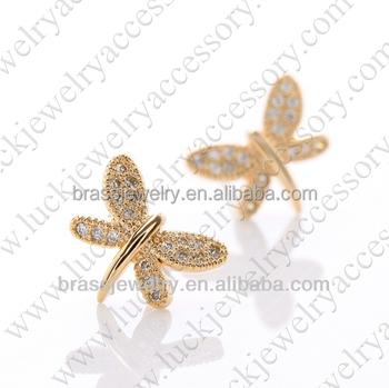 Dragonfly 24 Carat Gold Earrings