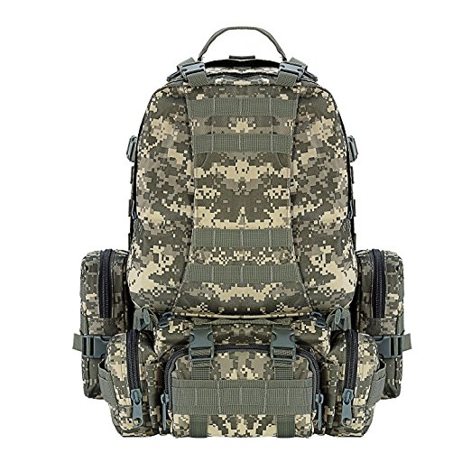 2017 New Design Outdoor 50L Military Rucksacks Tactical Backpack molle pouches