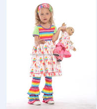 Baumwolle rüschen baby mädchen kinder boutique <span class=keywords><strong>kleidung</strong></span> sets nette herbst kinder outfits