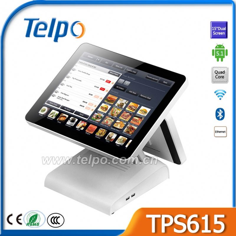 Hot sales Adjustable Angle plug electronic cash register Support Cash Drawer/Pos bluetooth printer