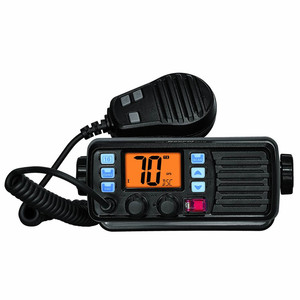 IP-67 waterproof and dustproof VHF FM fixed marine radio with external GPS receiver and weather forecast alarm