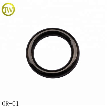 Top quality gunmetal circle metal O ring buckle for garments 2cm