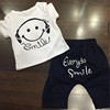 2018 Summer clothing sets boys Smiling suit T-shirt set baby boys clothes children