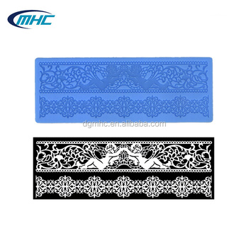 Angel Lace Mat,Silicone Lace Border Mold,Wholesale Cake Decorating ...