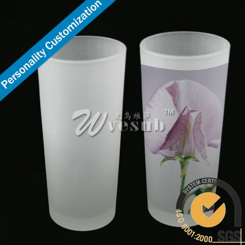 8oz High Quality Fashion Sublimation Blanks Glass Office Frosted Drinking Tea Cup