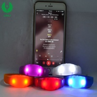 New Products Party And Concert Decoration Sound Activated Led Bracelet Concert With Wholesale Custom