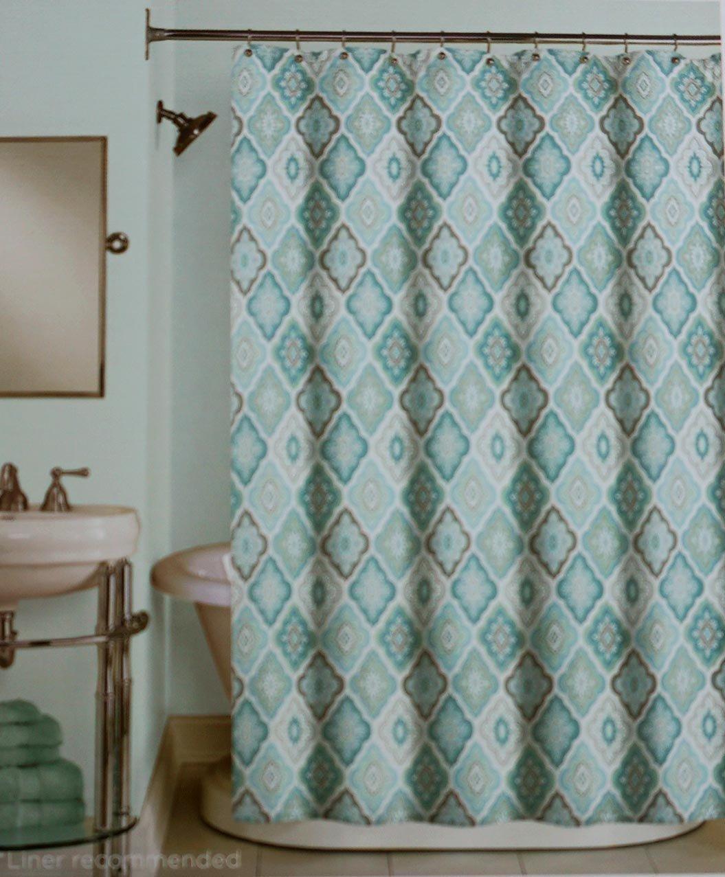 Shower Curtains Hooks Liners Peri Lilian Tile Shower