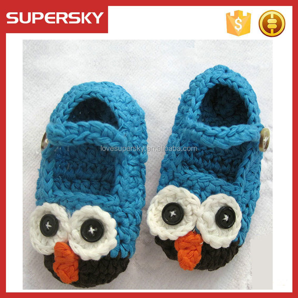 E322 Owl baby crochet shoes hand crochet baby shoes newborn baby shoes