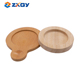 SGS Factory Custom Natural Rubber Wooden Coaster