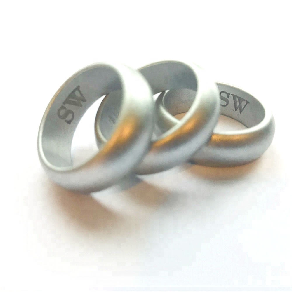 8mm width silicone wedding rubber <strong>rings</strong>, wedding band