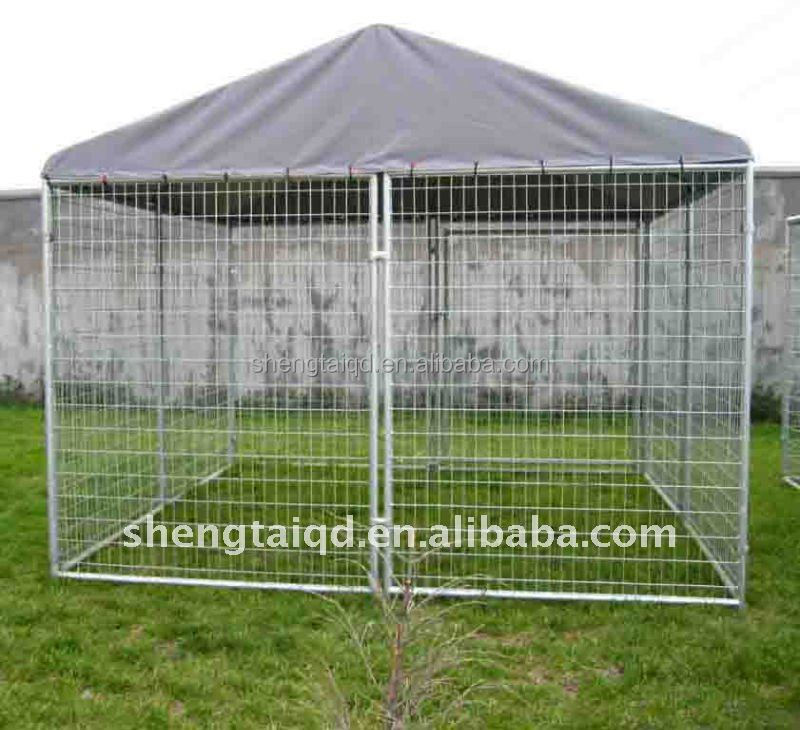 3.0x3.0x1.8m hot dip galvanized dog kennel dog cage pet cage