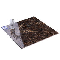 Goodone.Brown Foshan Discount Black Glossy Sparkle Bathroom Full Polished Glazed Porcelain Floor Tiles