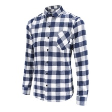 Polyester baumwolle stoff weiß rot blau <span class=keywords><strong>langarm</strong></span> flanell männer smart offizielle überprüfen shirts in ort