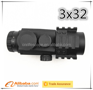 3X32 Prism Sight Rifle Scope for jewellery Green/Red illuminated riflescope for tactical hutting