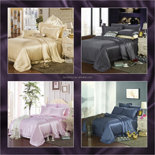 22mm wholesale Mulberry silk duvet bedding set home linen bed sheet /pillowcase/quilt cover