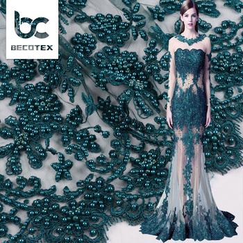 c0c65edf Good Price Custom Design Bead Lace Embroidery Fabric For Lady Dress ...