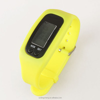 multifunctional lcd display silicone bracelet pedometer watch for kids