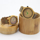 China Supplier Cheap wood watch Leather strap bamboo dial couple wood watch bamboo