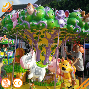 Dragon World amusement equipment 12 P animal carousel rides for sale