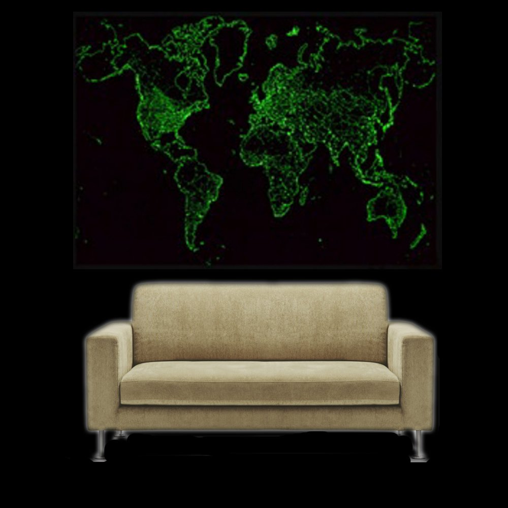 Cheap world map wall decal find world map wall decal deals on line get quotations wall world map glow in the dark at night wall decal sticker home decor removable map gumiabroncs Images