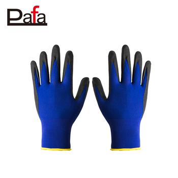 Boyama Satış Için 18g Mavi Naylon Nitril Eldiven Fabrika Fiyat Buy