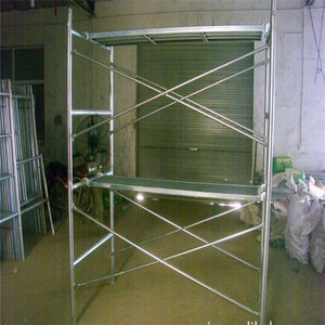 Light Duty Scaffold Q235 Galvanized H Steel System Strong Safeway Door Double Main Mason Q345 Scaffolding Ladder Frame